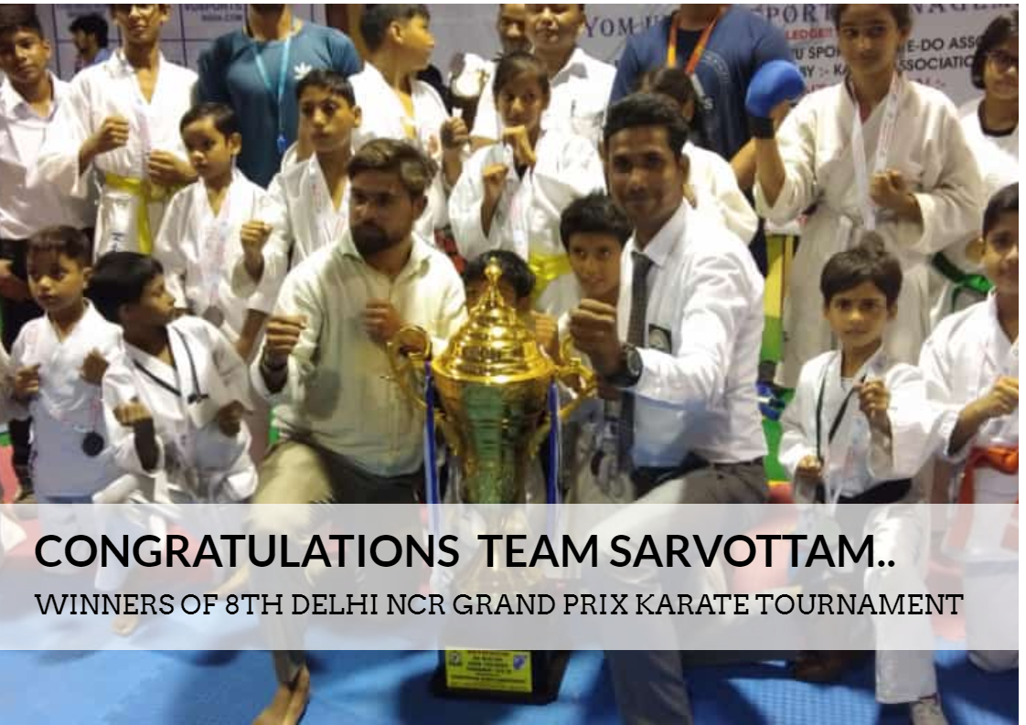Winners of 8th Grand Prix Karate Tournament