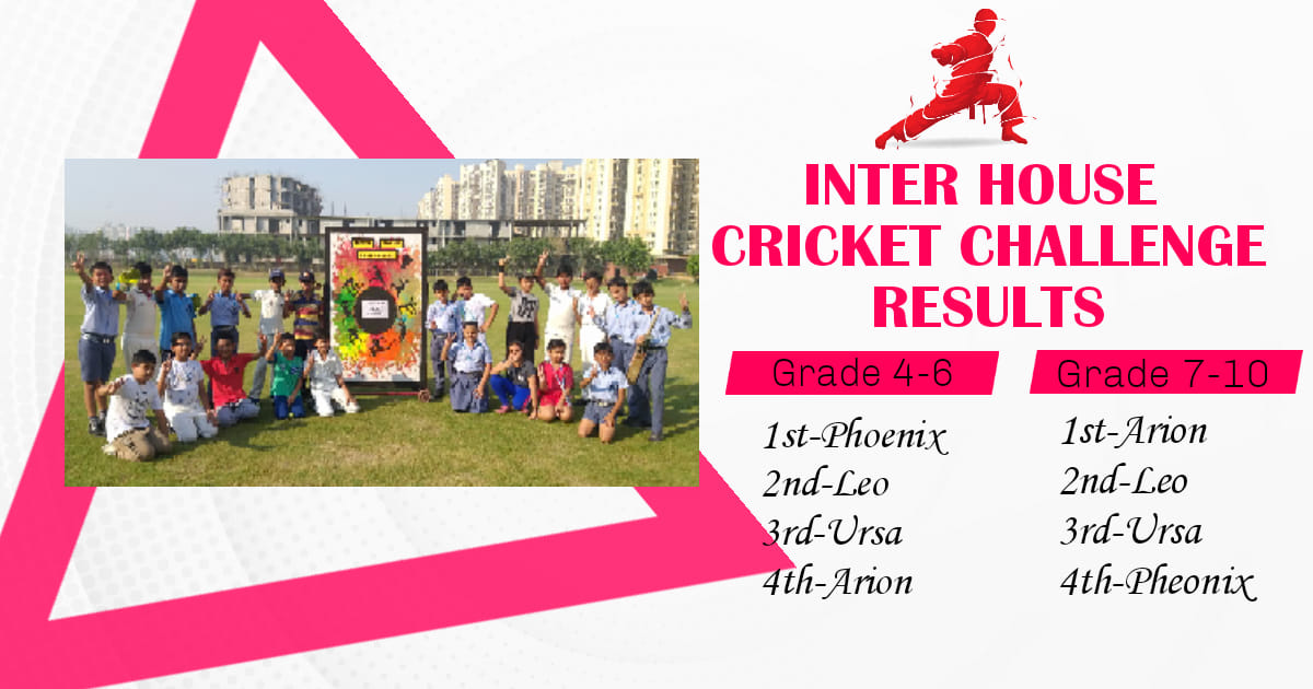 Inter House Cricket challenge Results