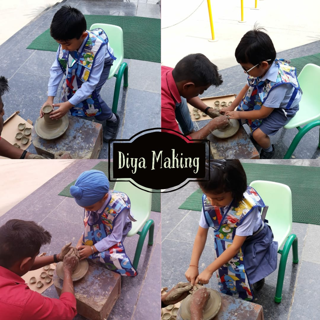 Diya Making Activity-Pre Primary