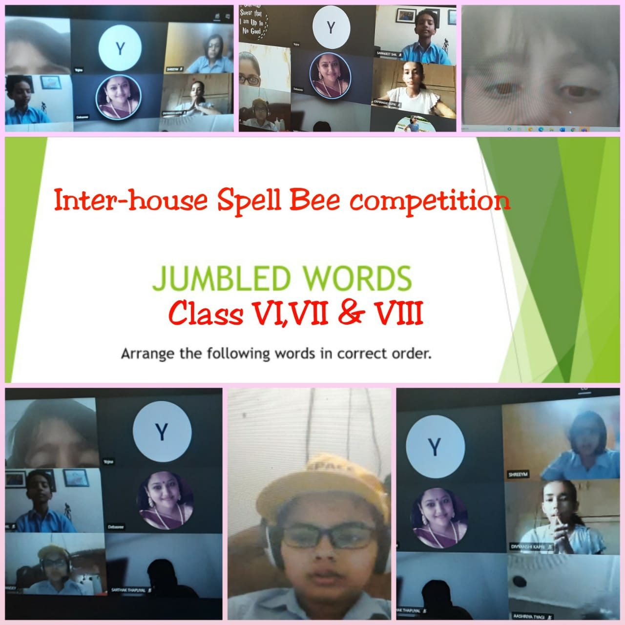 Inter-house Spell Bee Competition(Grade VI-VIII)-2020
