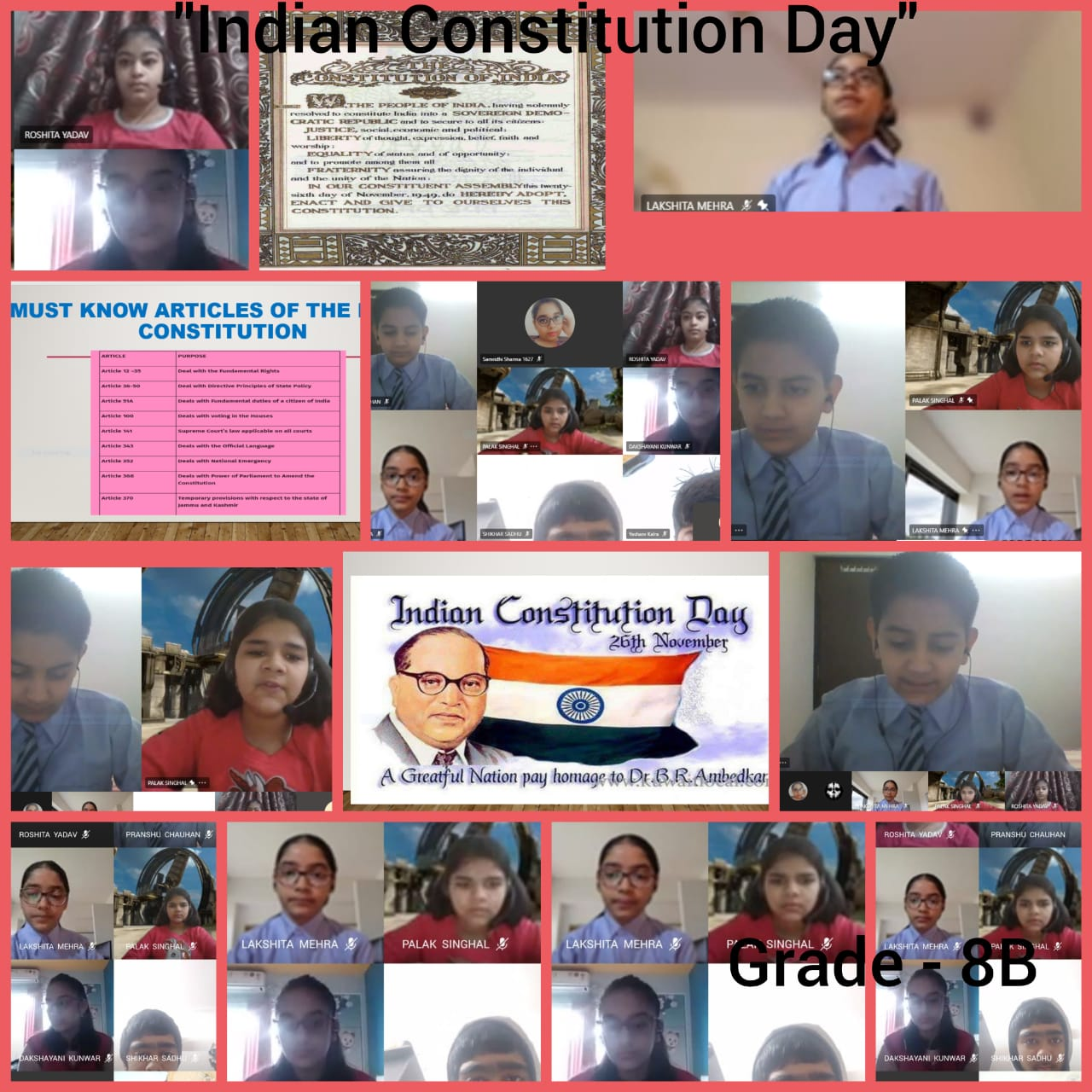 Special Assembly on Constitution Day-2020