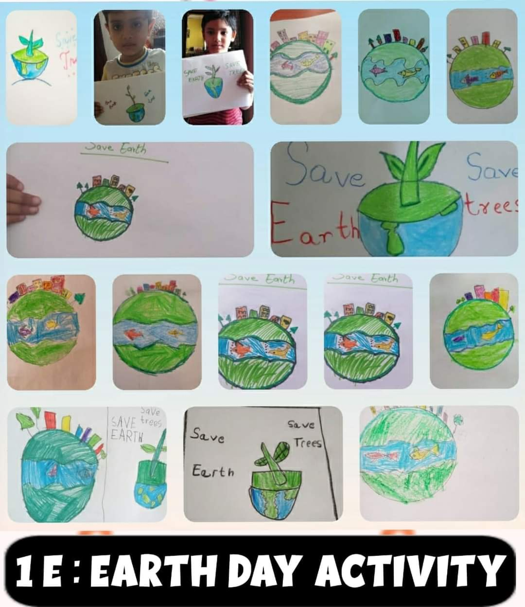 World Earth day-poster making