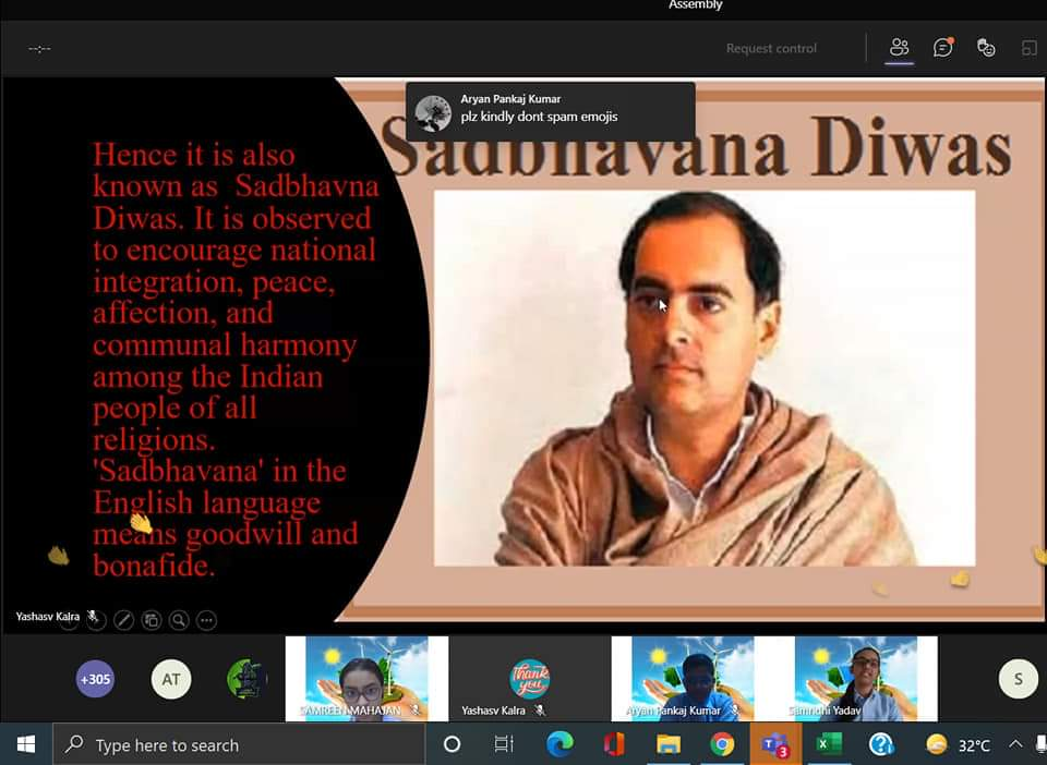 Sadbhavna Diwas- Special Assembly